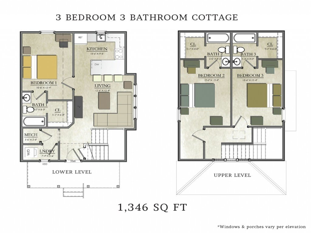 Best 3 Bedroom 2 Bath Cottage Plans 3 Bedroom 2 Bath House With Pictures