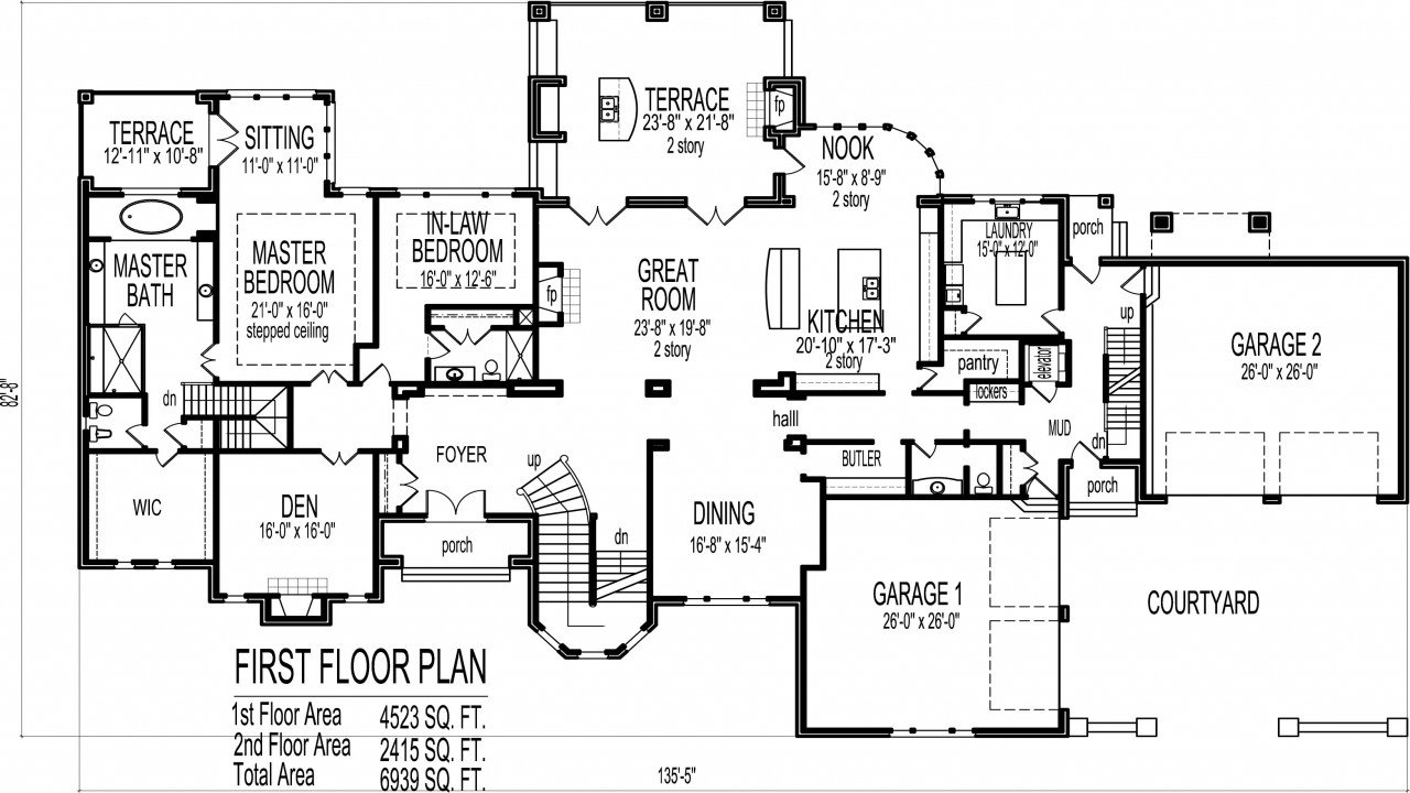 Best 6 Bedroom House Plans Blueprints Luxury 6 Bedroom House With Pictures
