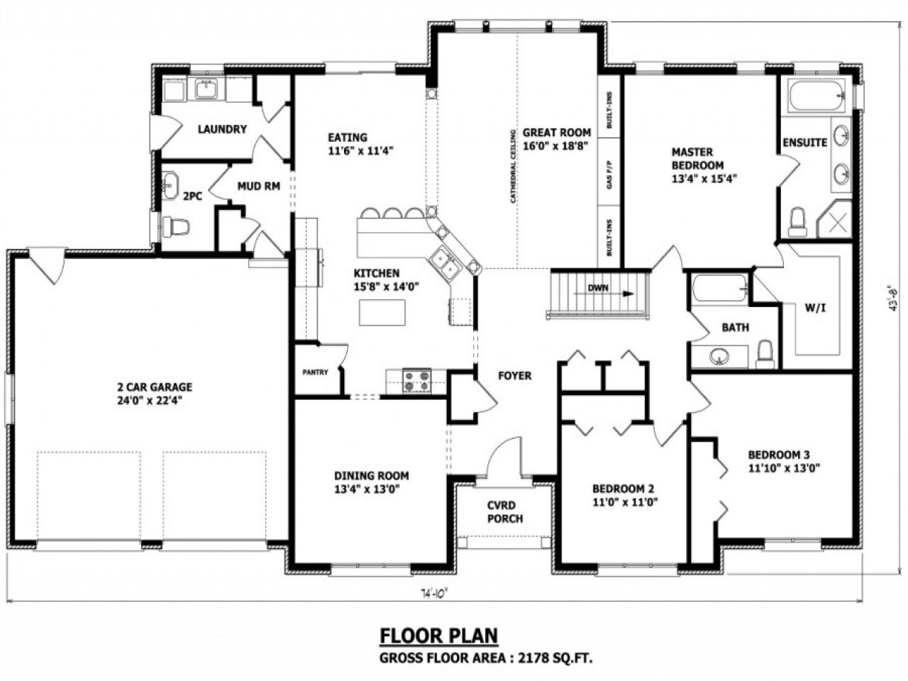Best Custom Homes Floor Plans House Design 4 Bedroom Home Floor Plans Canadian House Plans Bungalow With Pictures