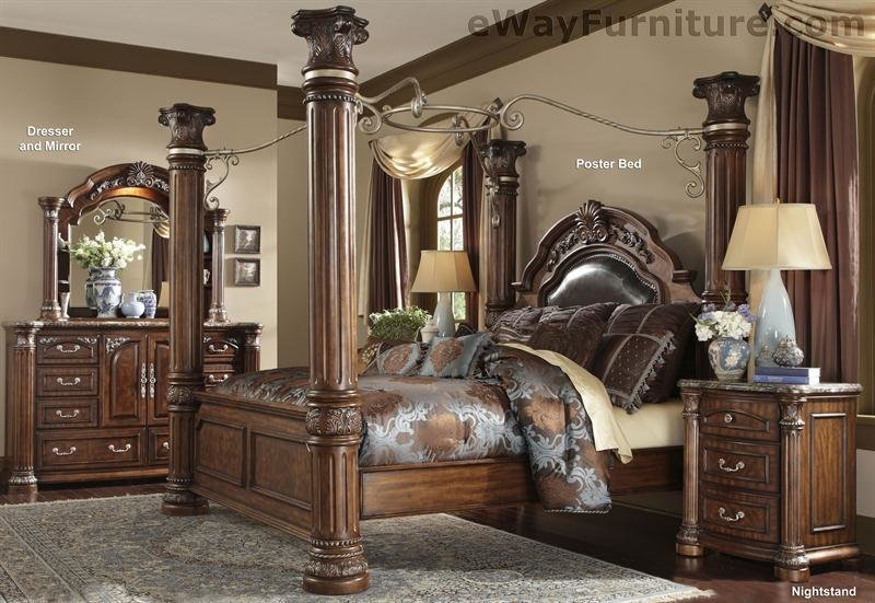 Best Cafe Noir Four Poster Bedroom Set With Iron Canopy With Pictures