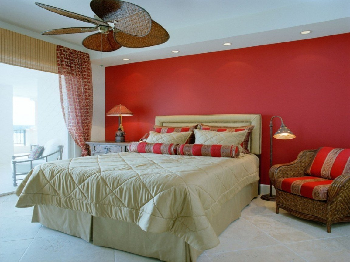 Best Bedroom Design Inspiration Bedroom With Red Accent Wall With Pictures