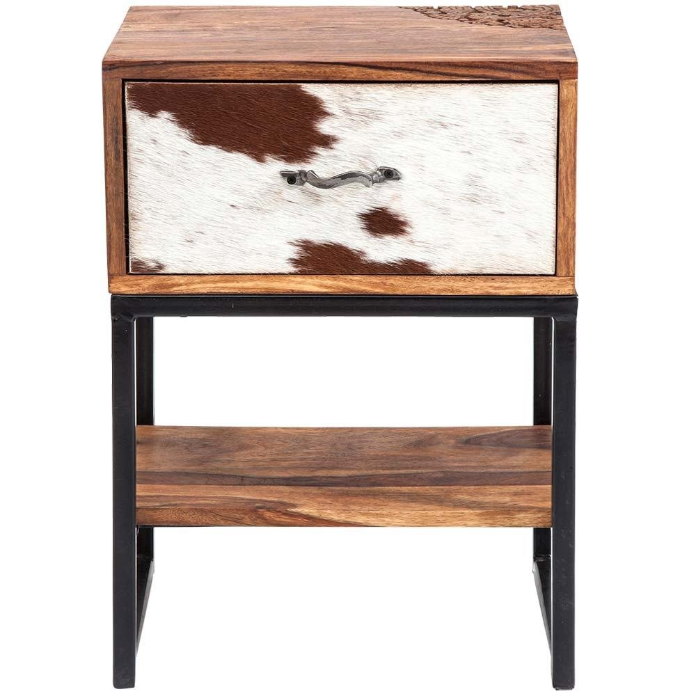 Best Rodeo Cowhide Wooden Side Table French Bedroom Company With Pictures