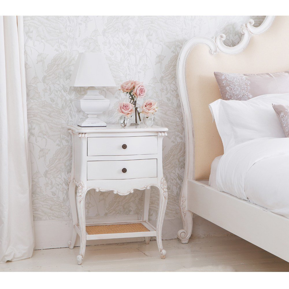 Best Provencal 2 Drawer Bedside Table French Bedroom Company With Pictures