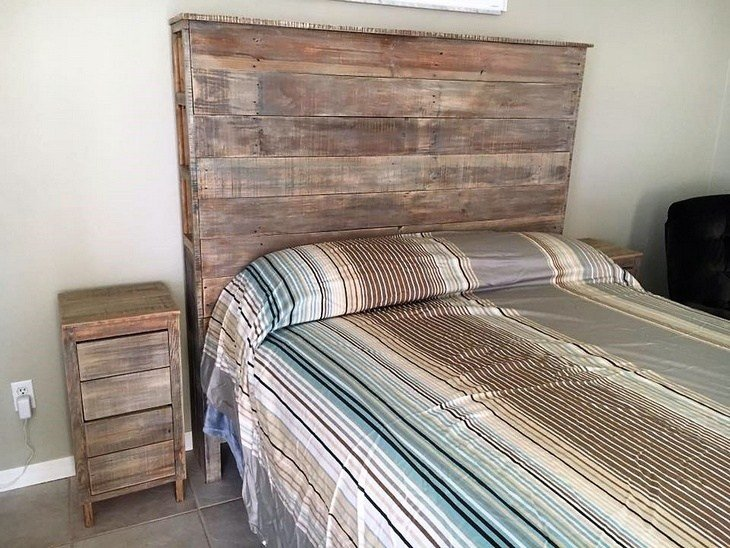 Best Wood Pallet Powered Bedroom Wood Pallet Furniture With Pictures