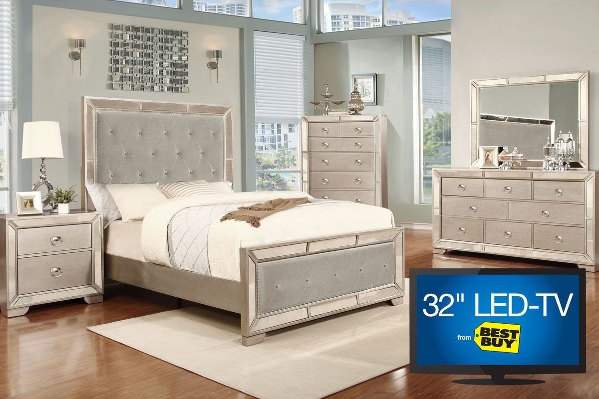 Best Image 5 Piece King Bedroom Set With 32 Tv At Gardner White With Pictures