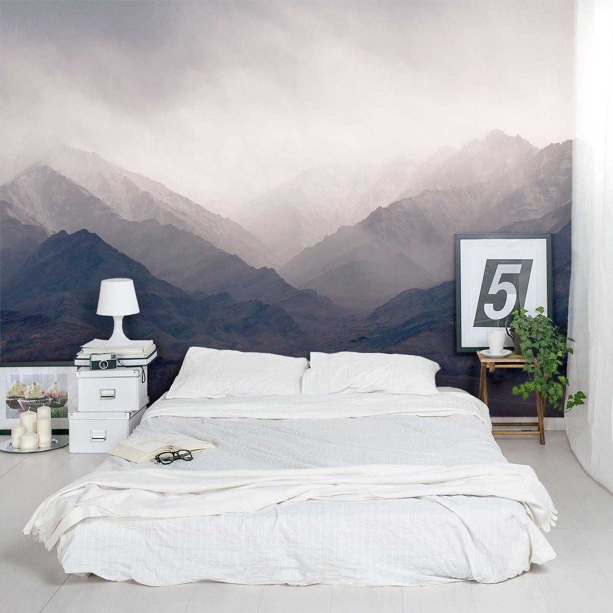 Best Misty Mountains Wall Mural With Pictures