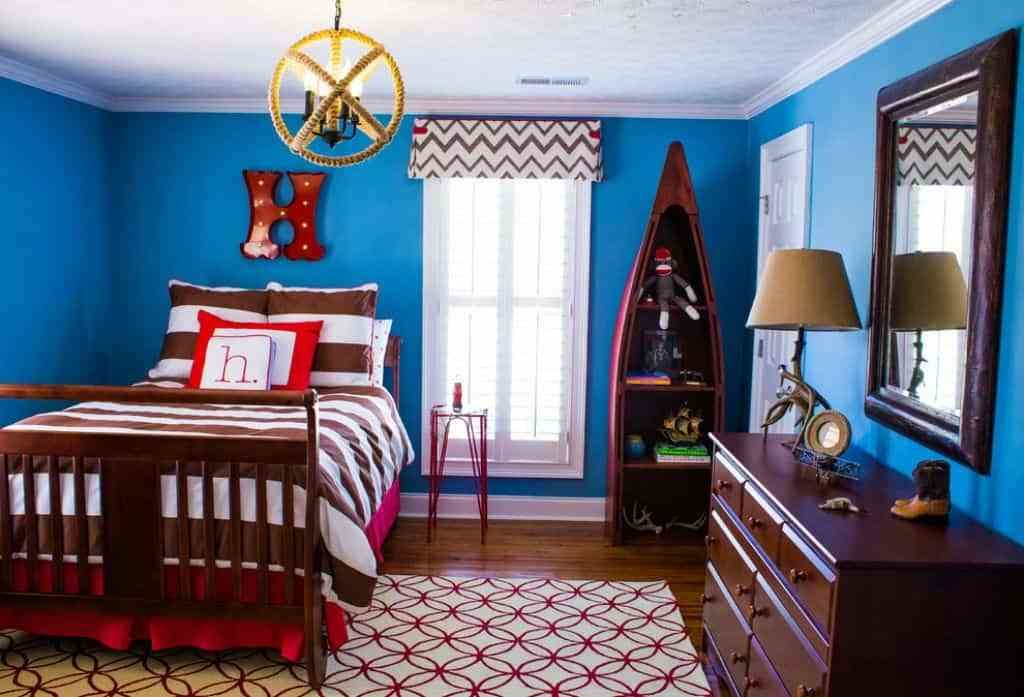 Best Kids Bedroom With Bright Blue Walls Decorating Ideas For With Pictures