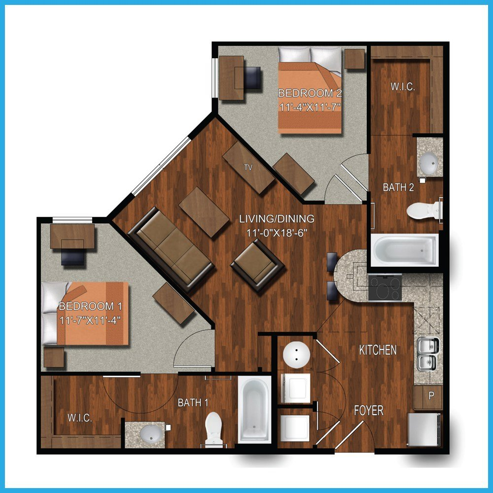 Best Modern House Plans 2 Bedroom Bath Floor Plan Toilet Bed With Pictures
