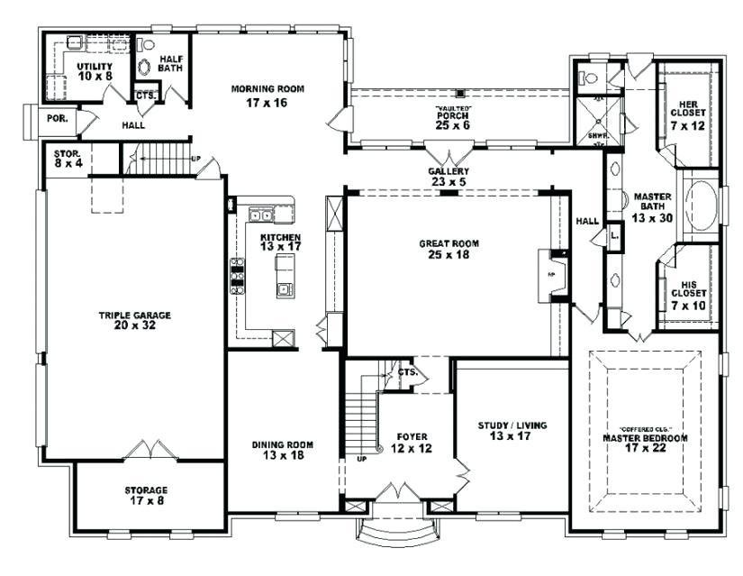 Best Bedroom House Plans 4 Bedroom Open Affordable 4 Ranch With Pictures