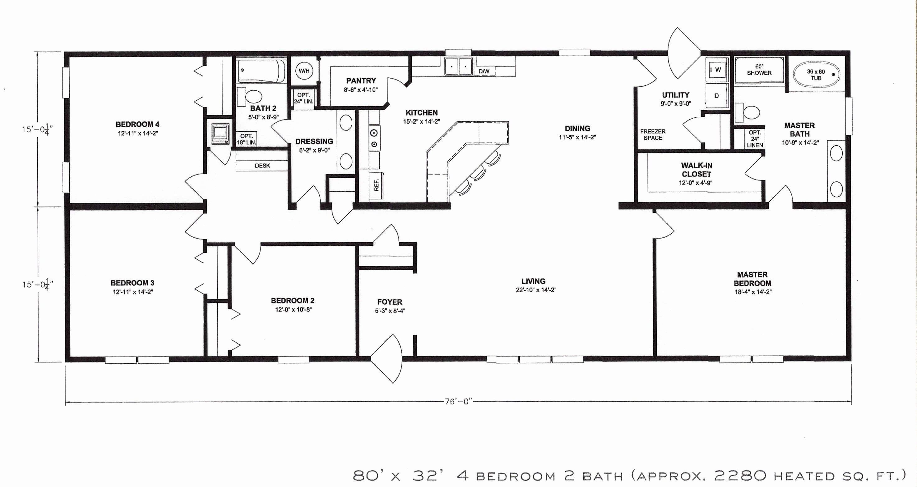 Best Four Bedroom House Plans Unique Single Story Affordable 4 Simple Modern Residential Bedrooms 4 With Pictures