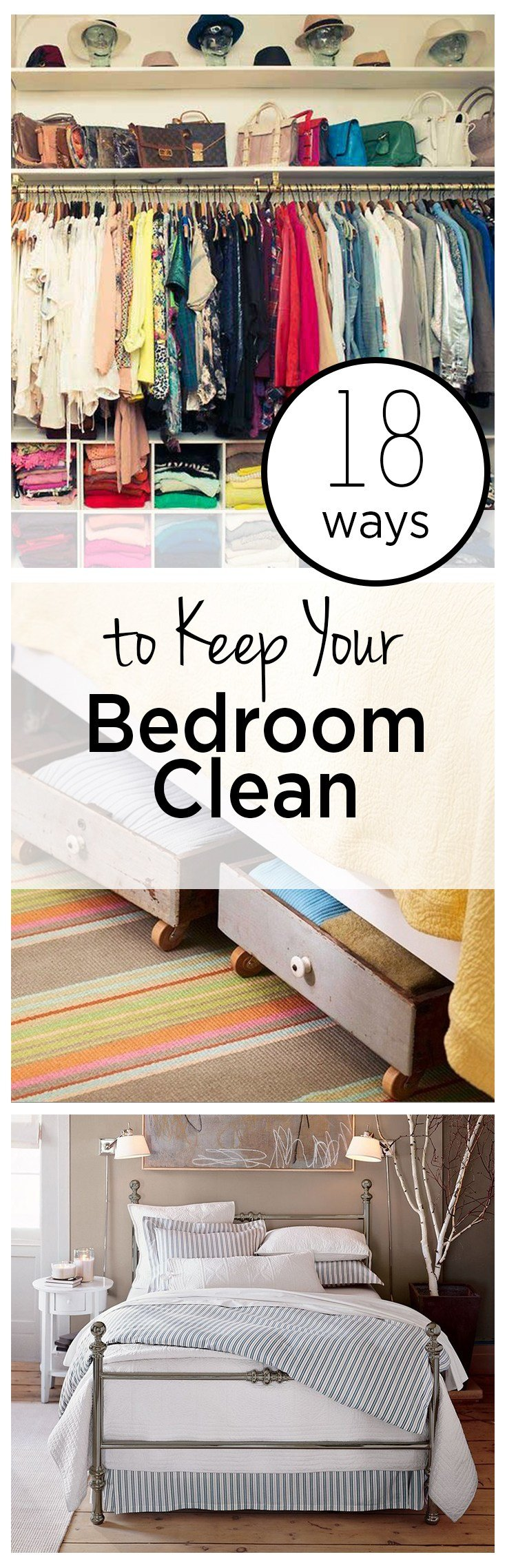 Best 18 Ways To Keep Your Bedroom Clean Wrapped In Rust With Pictures