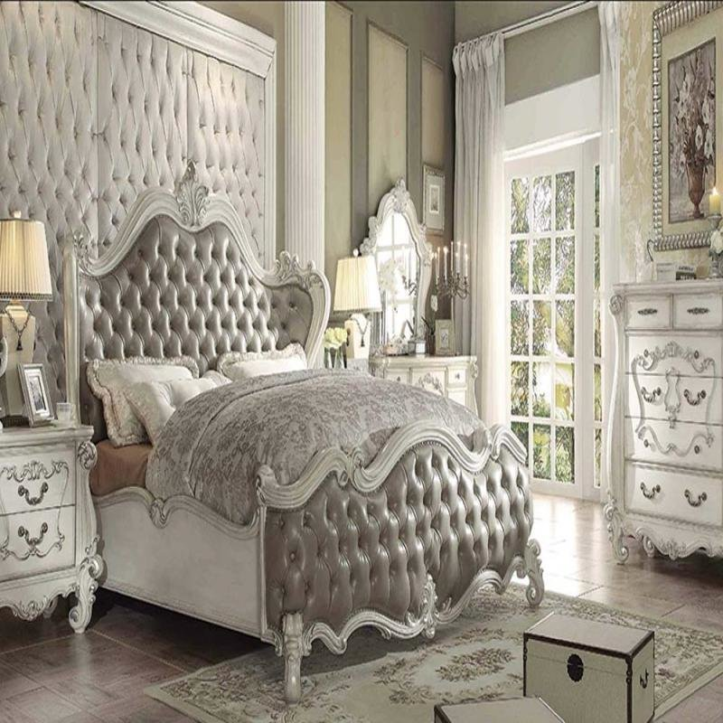Best Formal Vintage Gray King Bedroom Set Acme Hot Sectionals With Pictures