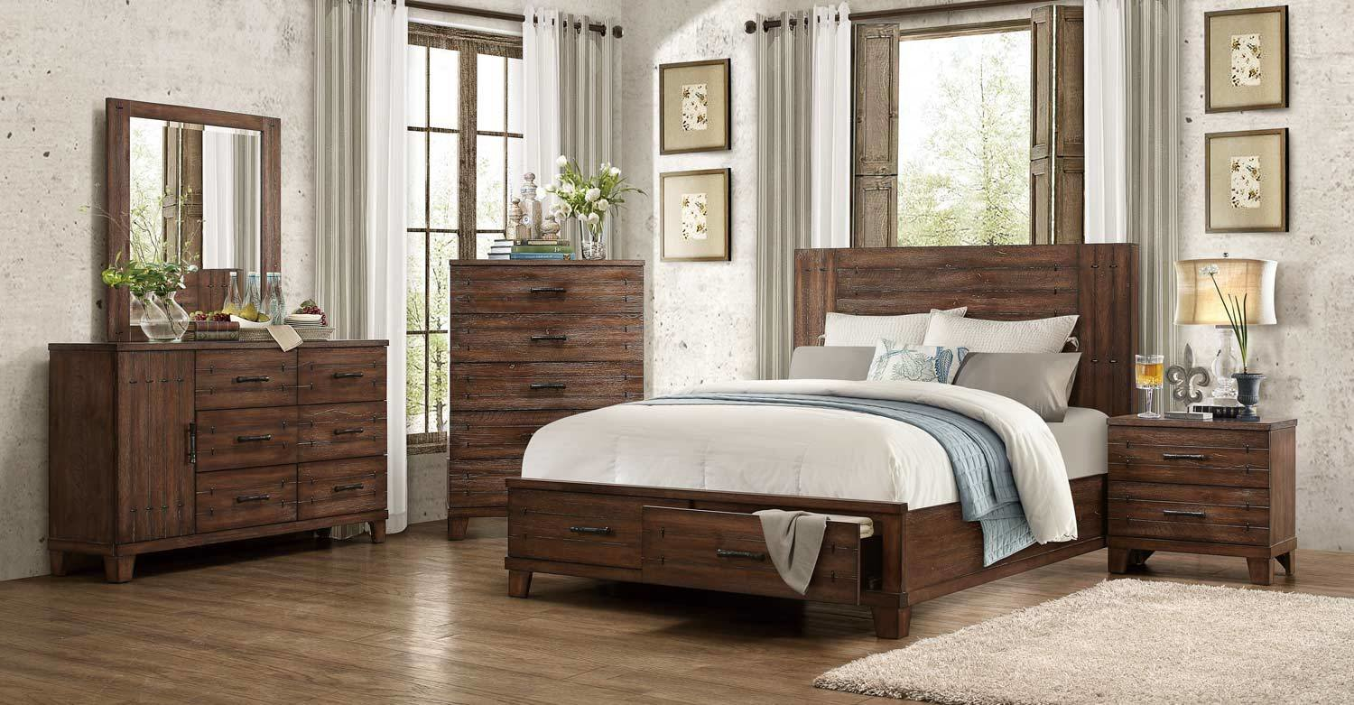 Best Homelegance Brazoria Bedroom Set Distressed Natural Wood With Pictures