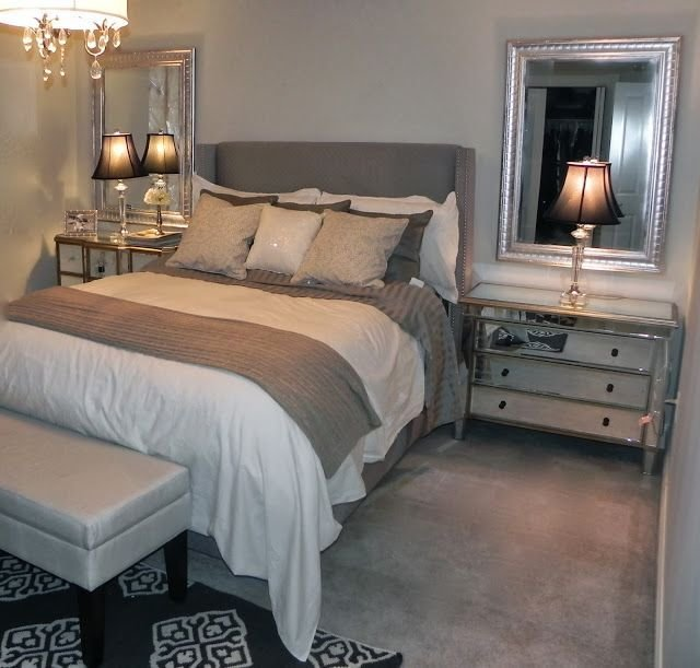 Best Gray And Beige Bedroom Grey Sheets The Paint Is Benjamin With Pictures