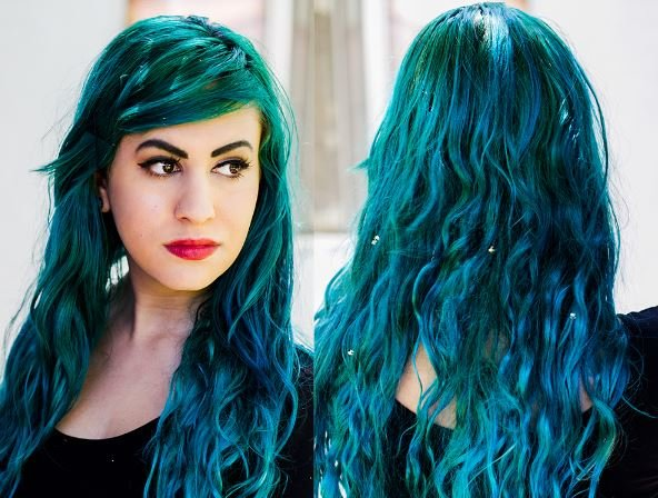 Free Teal Hair Dye Best Brands Dark Teal Blue Green Wallpaper