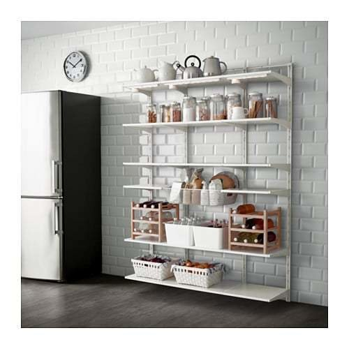 Best Algot Wall Upright Shelf Basket Ikea With Pictures
