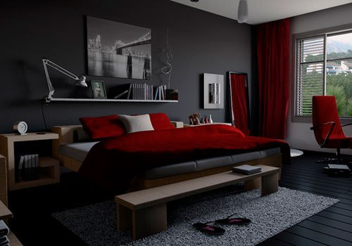 Best Wow Red Black And Grey Bedroom 65 For Your Home Interior With Pictures