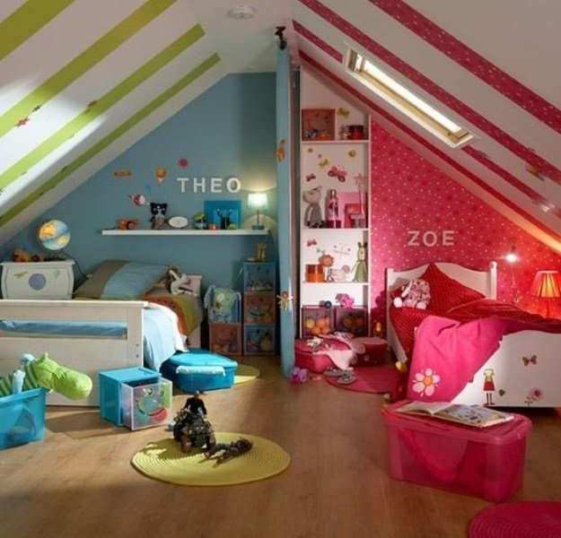 Best 15 Cool Design Ideas For An Attic Kids Room Kidsomania With Pictures