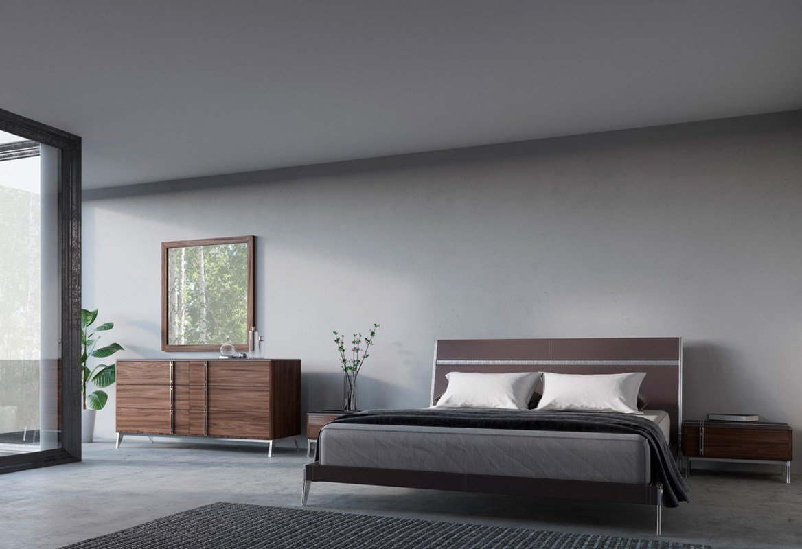 Best Nova Domus Ria Contemporary Brown Eco Leather Stainless With Pictures