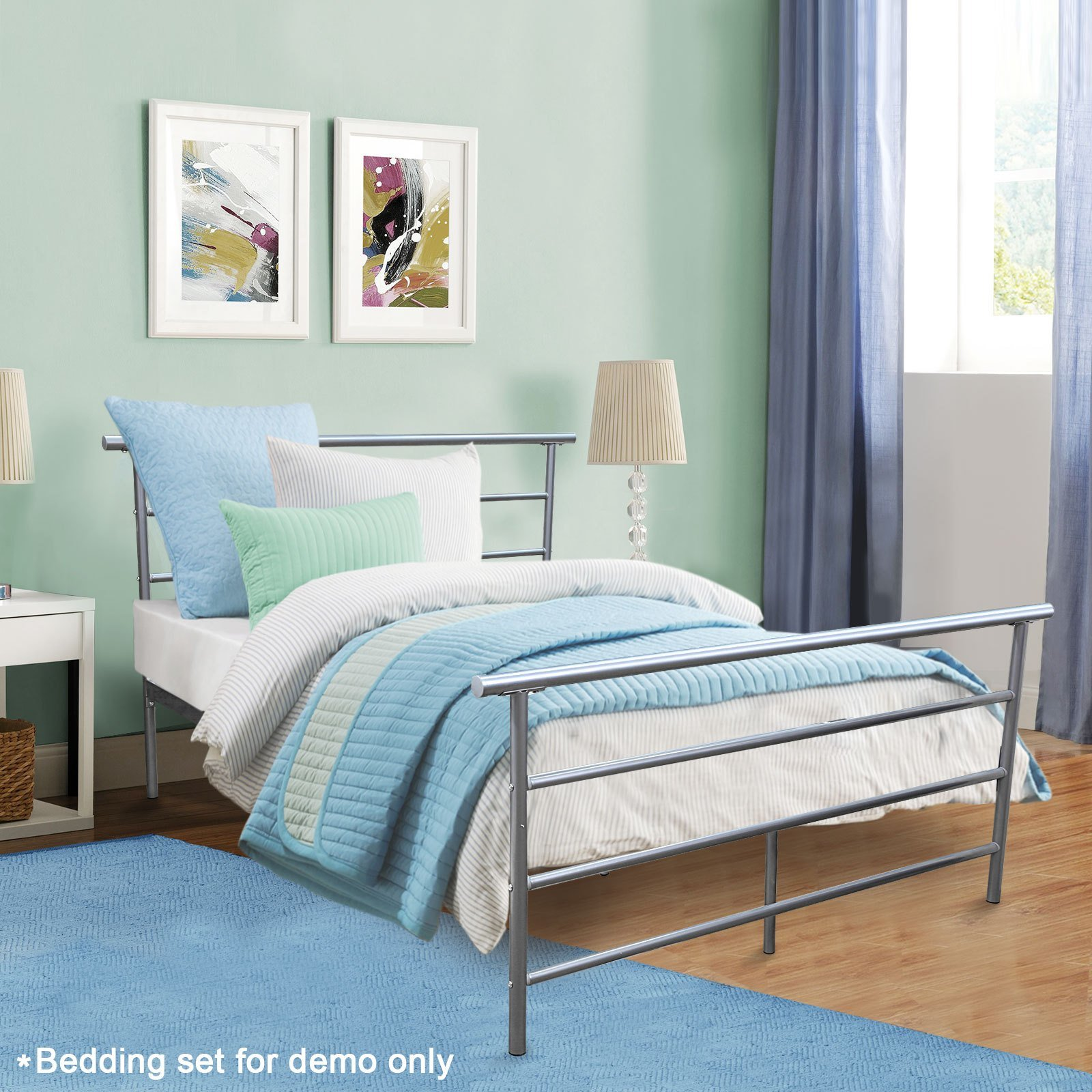 Best Full Size Silver Headboard Footboard Furniture Bedroom With Pictures