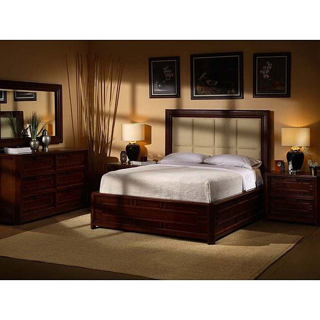 Best Kyomi Asian Style 5 Piece King Bedroom Set 11518198 Overstock Com Shopping Big Discounts With Pictures