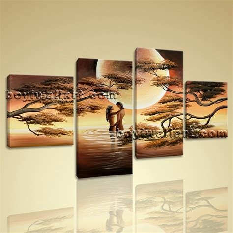 Best Romantic Moon Lover Picture Large Stretched Canvas Prints With Pictures