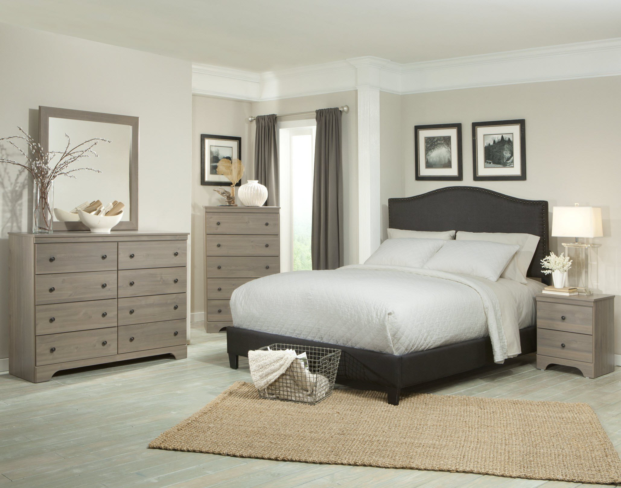 Best 218 Kiths Raleigh Aged Grey Cypress Finished Bedroom Set With Pictures