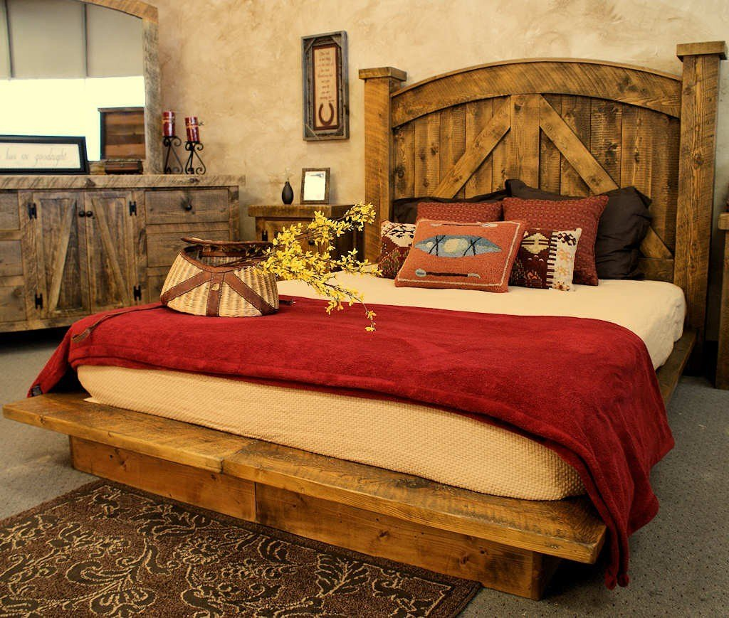 Best Barnwood Furniture Adds Old West Style To The Bedroom With Pictures