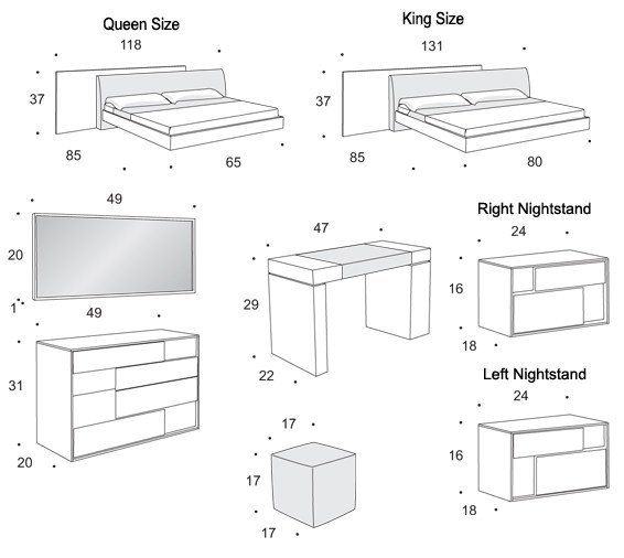 Best Standard Bedroom Furniture Sizes Bedroom Furniture Reviews With Pictures