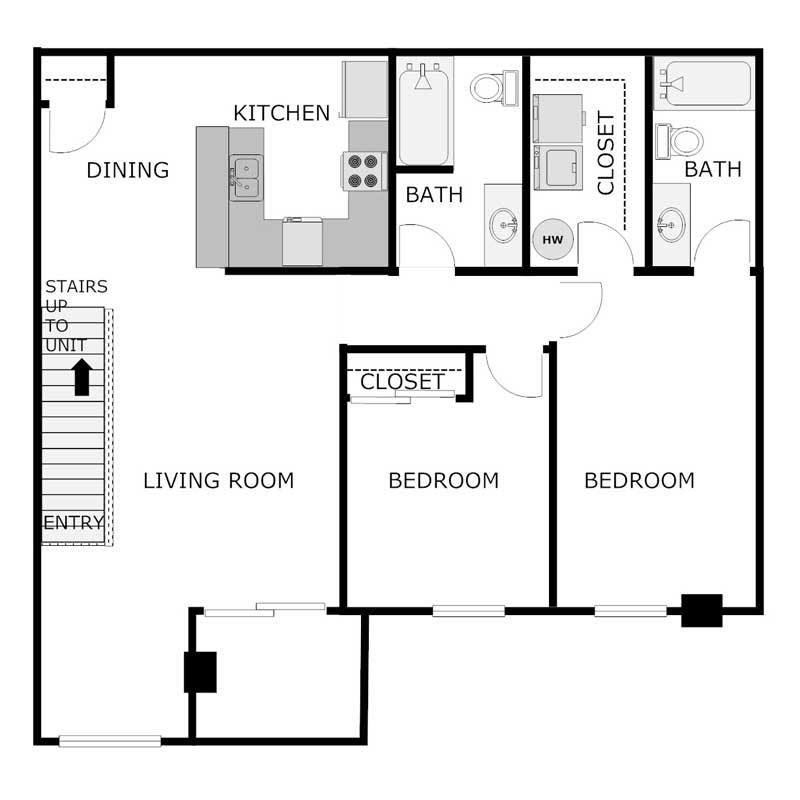 Best 2 Bedroom 2 Bath Apartments 1 205 1 292 Sq Ft Burton With Pictures