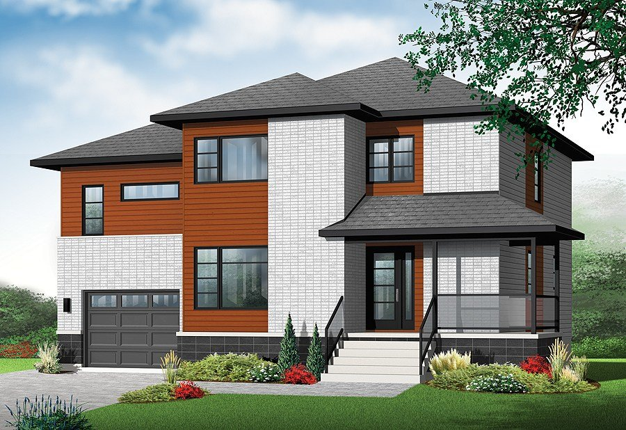 Best New Contemporary House Plan With 4 Bedrooms And 3 With Pictures