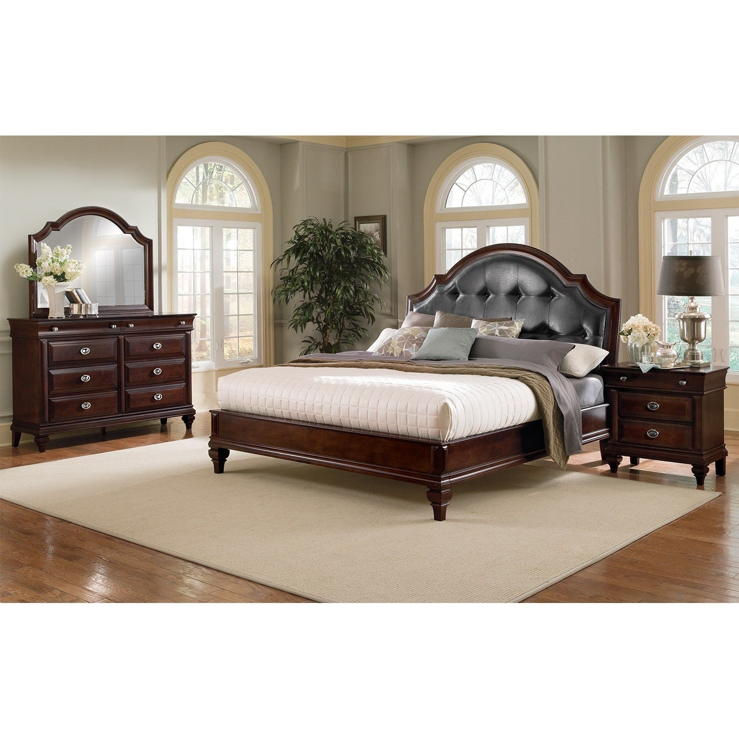 Best Manhattan 6 Pc King Bedroom Value City Furniture With Pictures