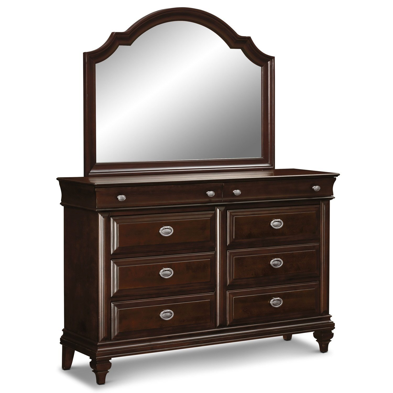 Best Manhattan Dresser And Mirror Cherry Value City Furniture With Pictures