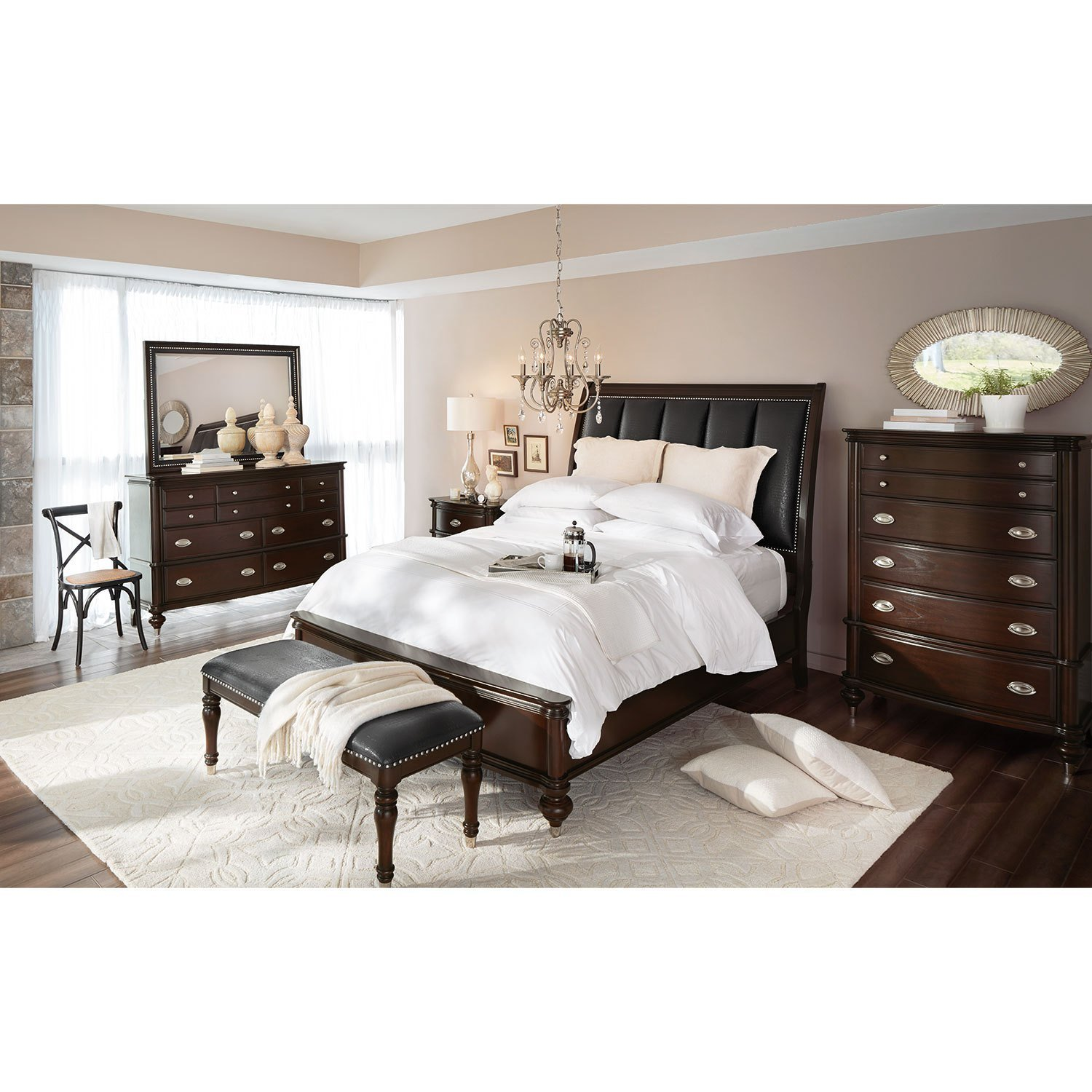 Best Esquire King Bed Merlot Value City Furniture With Pictures
