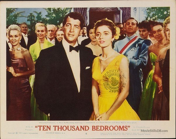 Best Ten Thousand Bedrooms Lobby Card With Dean Martin Anna Maria Alberghetti With Pictures