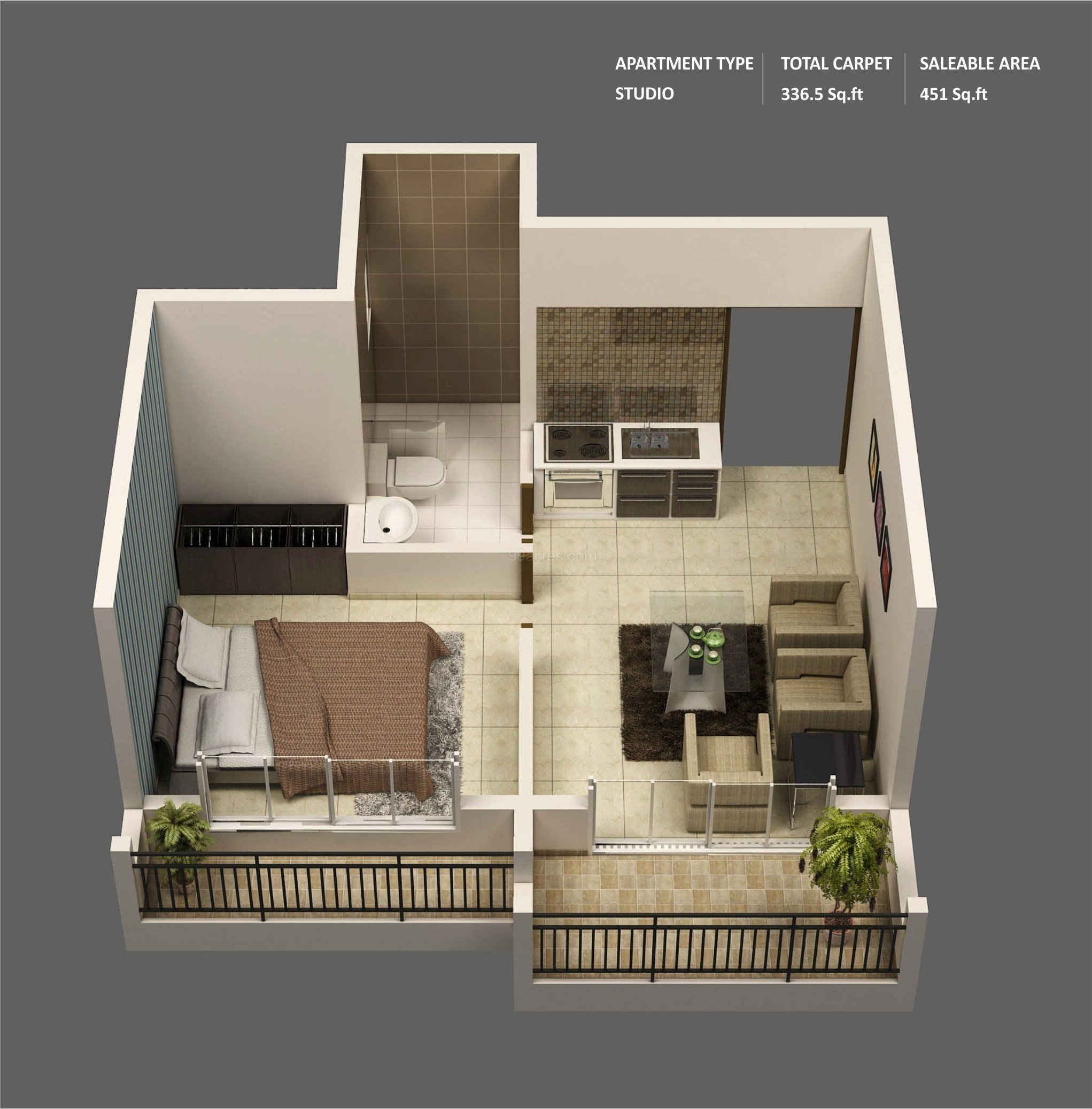 """Best 50 One """"1"""" Bedroom Apartment House Plans Architecture Design With Pictures Original 1024 x 768"""
