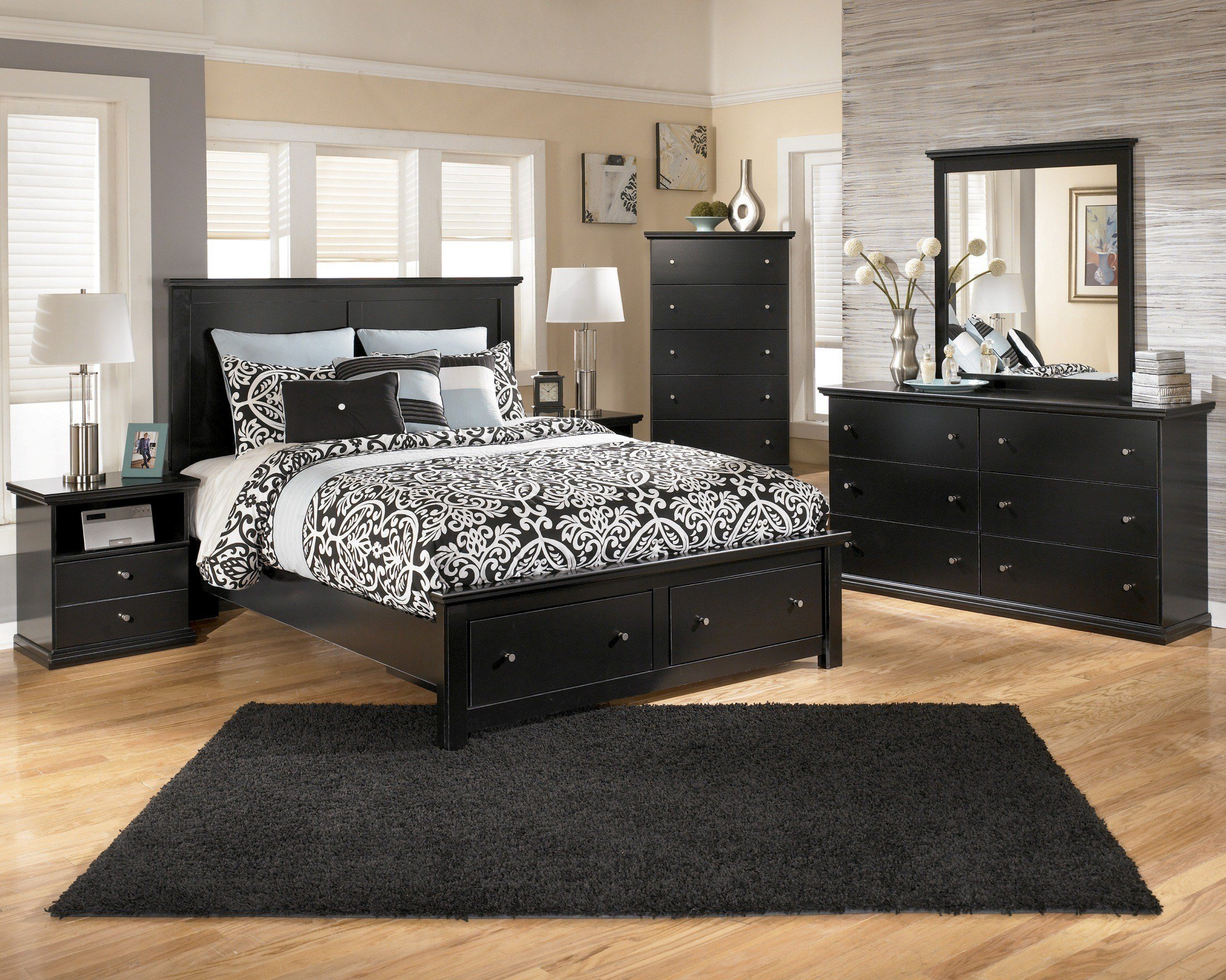 Best Maribel Panel Storage Bedroom Set B138 54S 57 95 B100 13 With Pictures