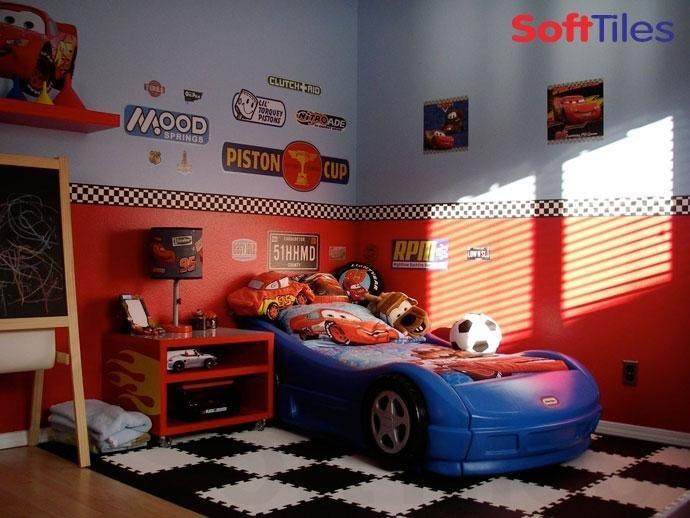 Best Race Car Room Puzzle Foam Floor Mats Softtiles With Pictures