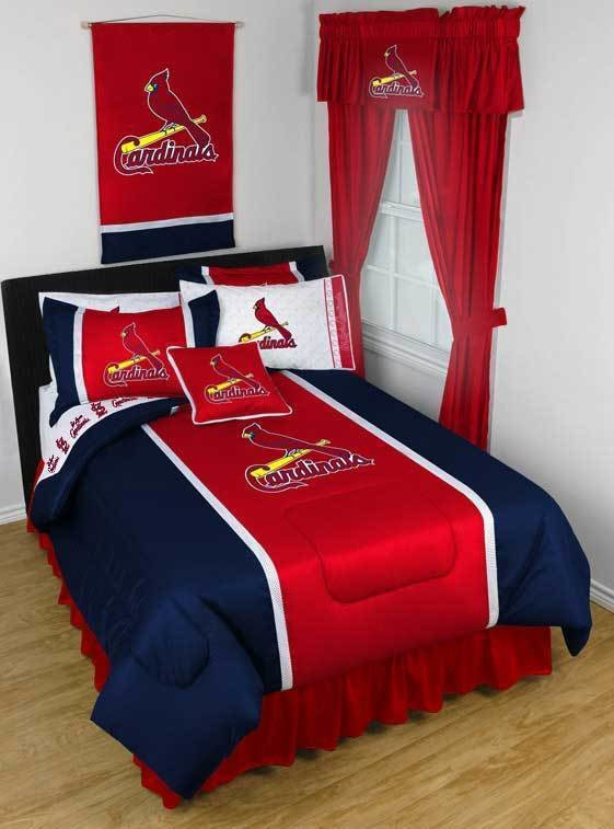 Best Mlb Cardinals Bedding St Louis Comforters Baseball Bed Set Obedding Com With Pictures