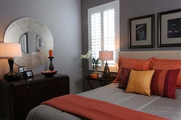 Best Warm And Inviting Bedroom In Grey With Orange Accents With Pictures