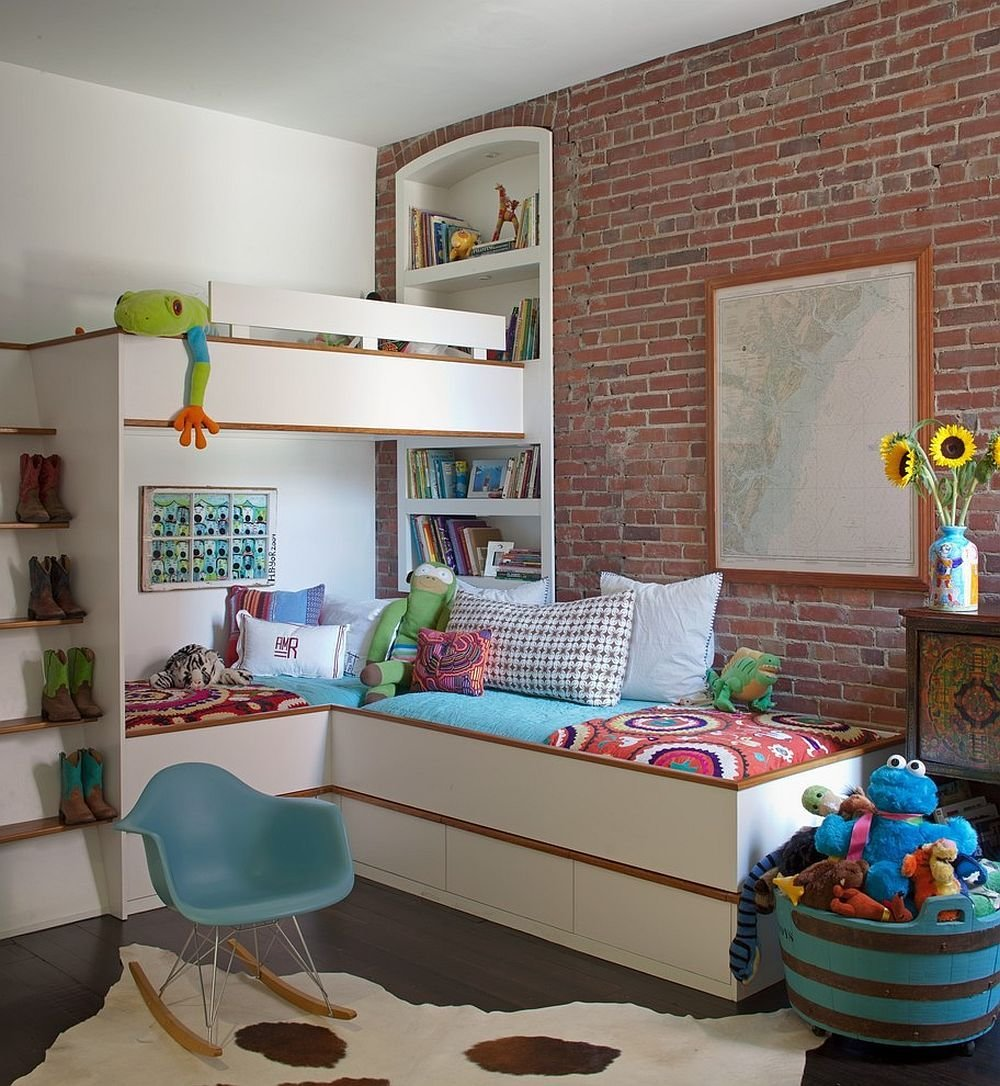 Best 25 Vivacious Kids' Rooms With Brick Walls Full Of Personality With Pictures