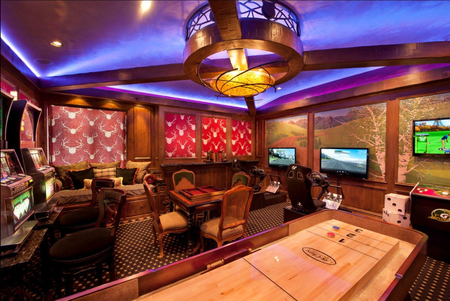 Best Game And Entertainment Rooms Featuring Witty Design Ideas With Pictures