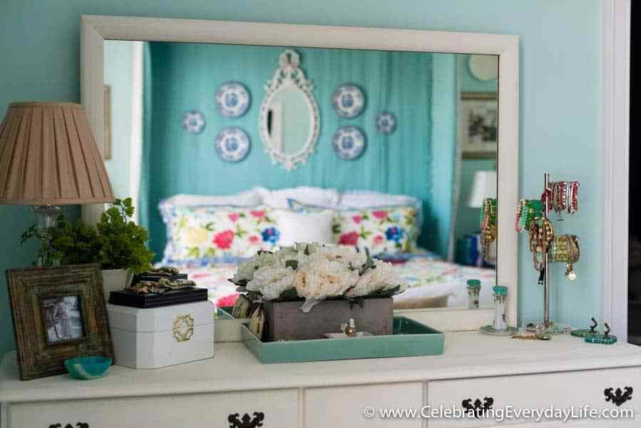 Best Spring Bedroom Makeover Creating A Blue White Bedroom Celebrating Everyday Life With With Pictures