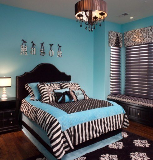 Best Things For Kaleigh Turquoise And Zebra Print T**N Room With Pictures
