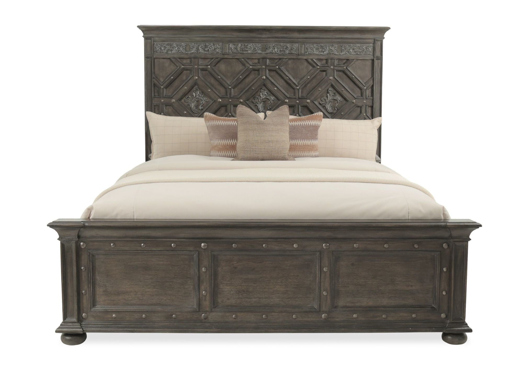 Best H**K*R Vintage West Wood Panel Bed Mathis Brothers Furniture With Pictures