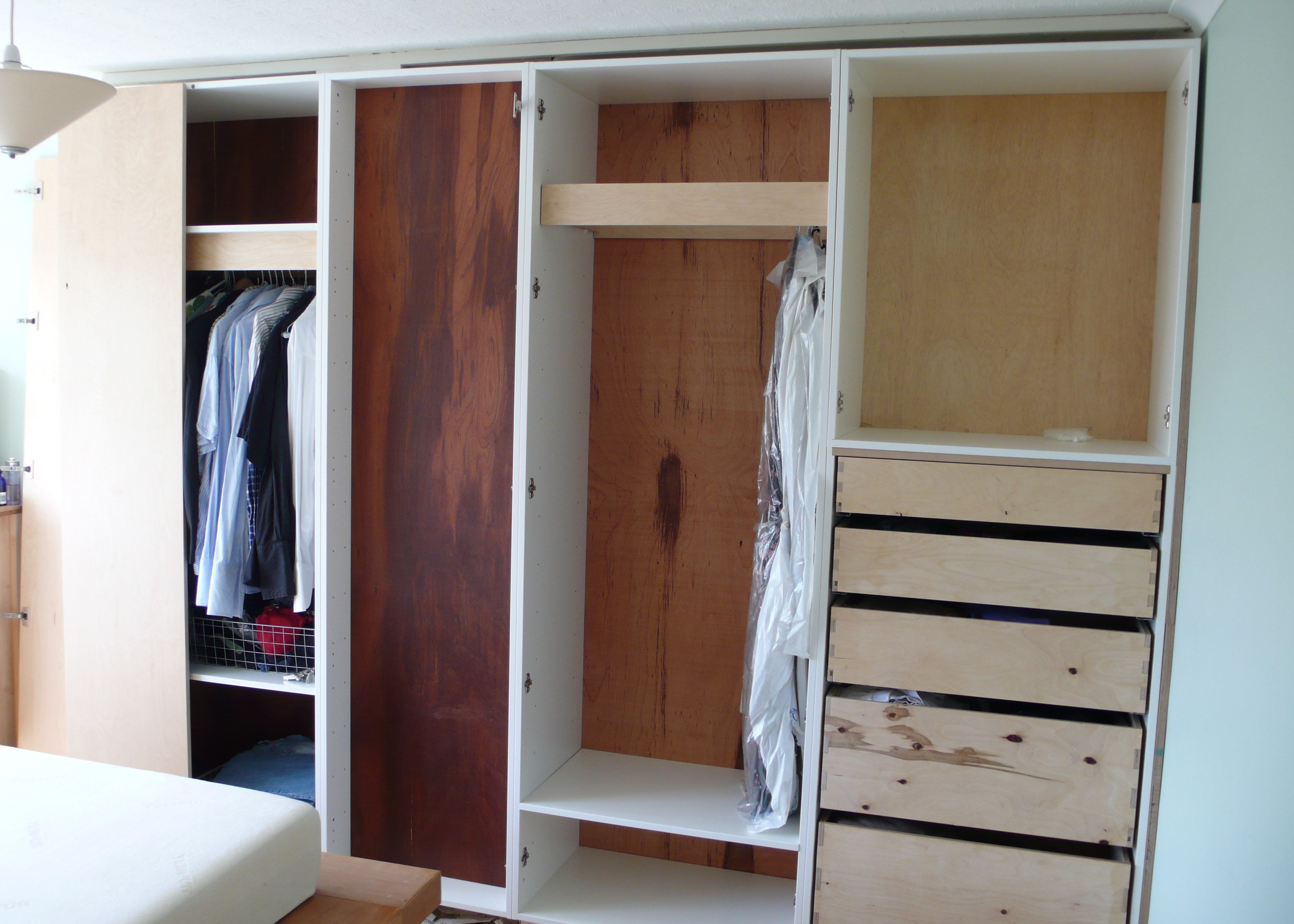 Best Bedroom Wardrobe Built Around Chimney Br**St Diy With Pictures