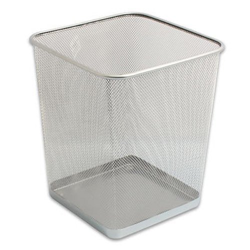 Best Silver Mesh Waste Bin Office Bedroom Trash Can Wastebasket Home Garden Household Supplies With Pictures