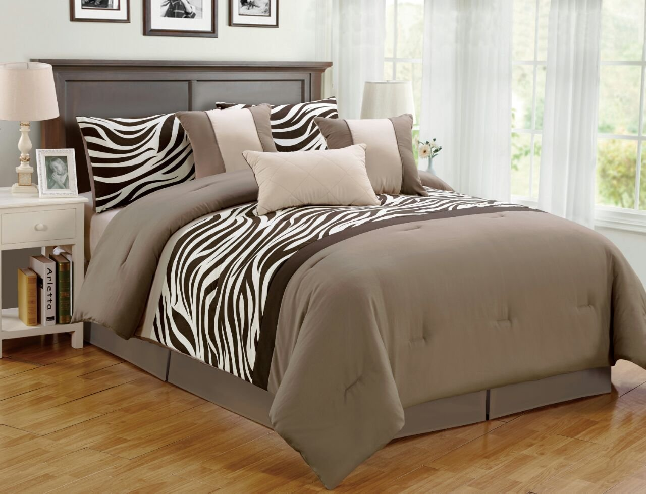 Best 7 Pieces Comforter Set Bed Bag Oversize Zebra Animal With Pictures