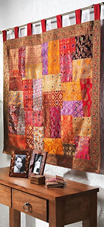 Best Wallhanging Embroidered Patchwork Brocade Rayon And Cotton With Pictures