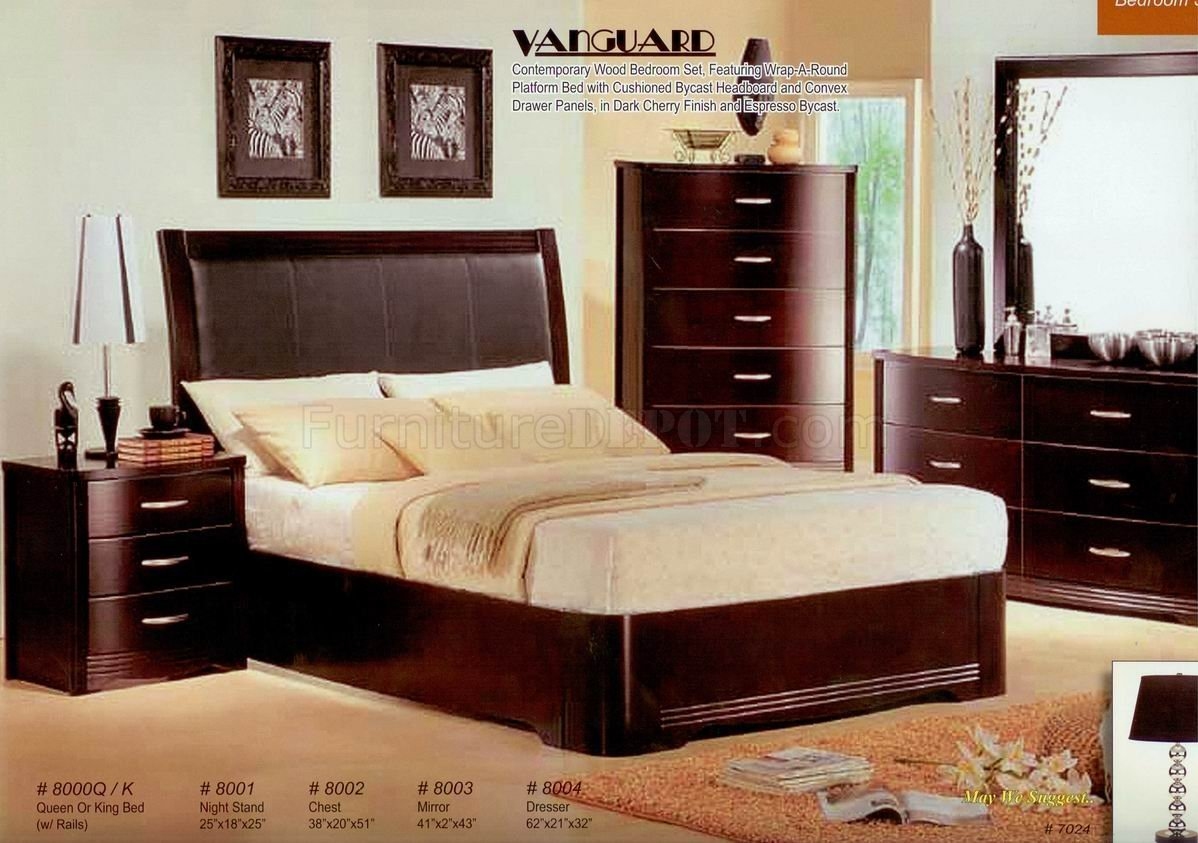 Best Dark Cherry Finish Contemporary Bedroom W Optional Casegoods With Pictures Original 1024 x 768